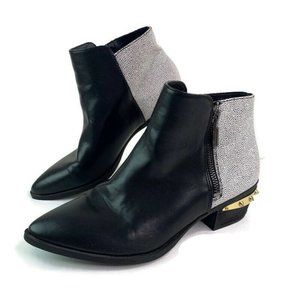 Circus By Sam Edelman Holt Black White Ankle Boots